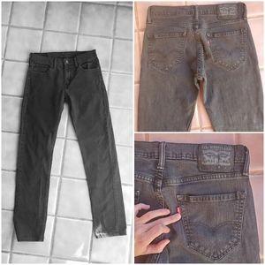 Vintage Black Wash Levi High-Rise Jeans W30 x L30